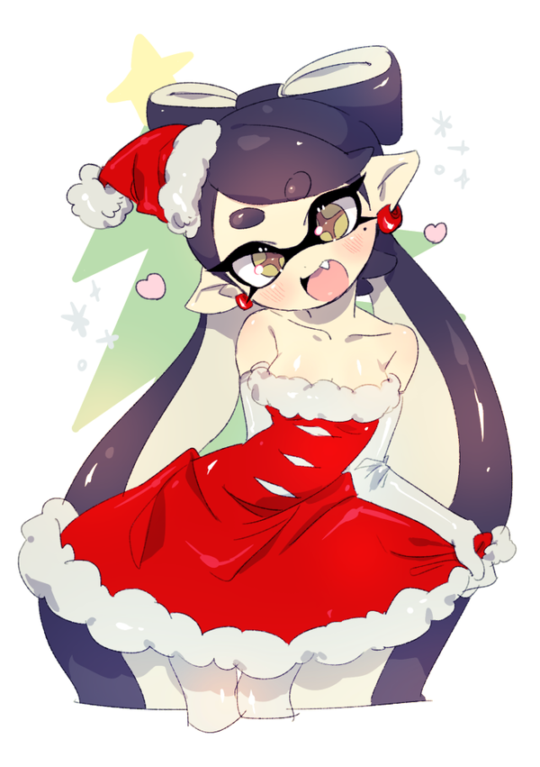 Holiday dress | Squid Sisters | Know Your Meme