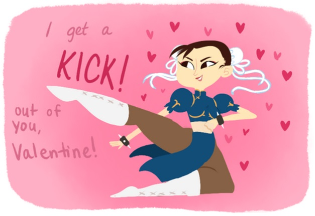 kick out of you valentine street fighter x tekken pink red