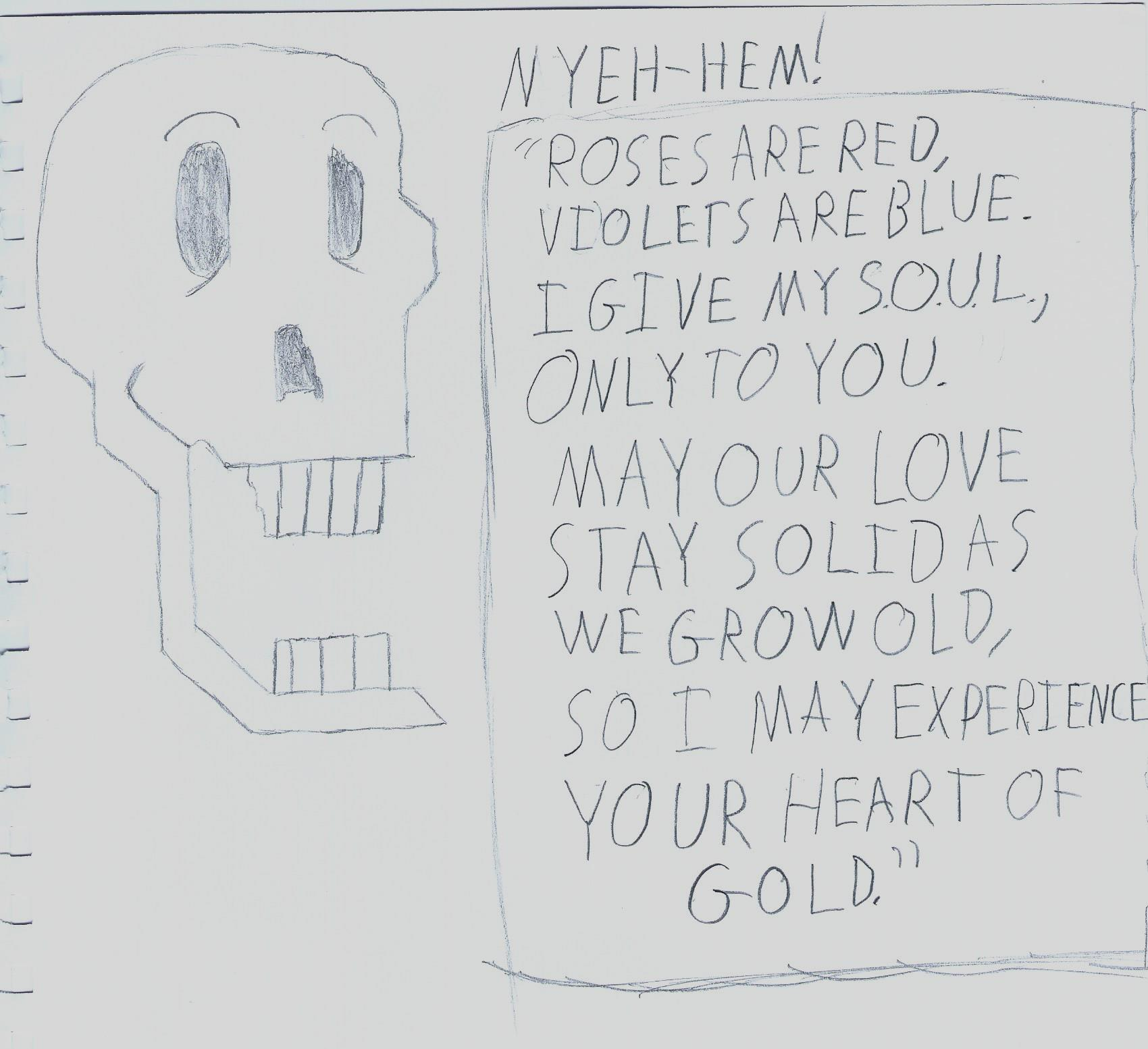 Papyruss Valentine Letter 34  Undertale  Know Your Meme