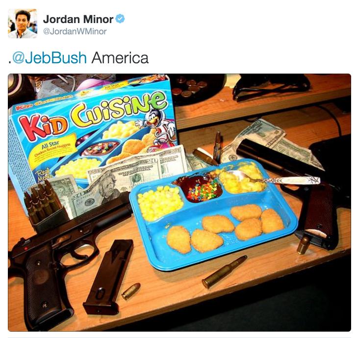f77 jordan minor's tweet jeb bush's \