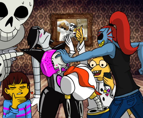 Undertale Draw The Squad Meme Chest Lovin By Karmabanshee