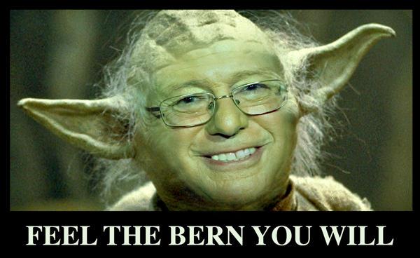 b74 feel the bern, you will \