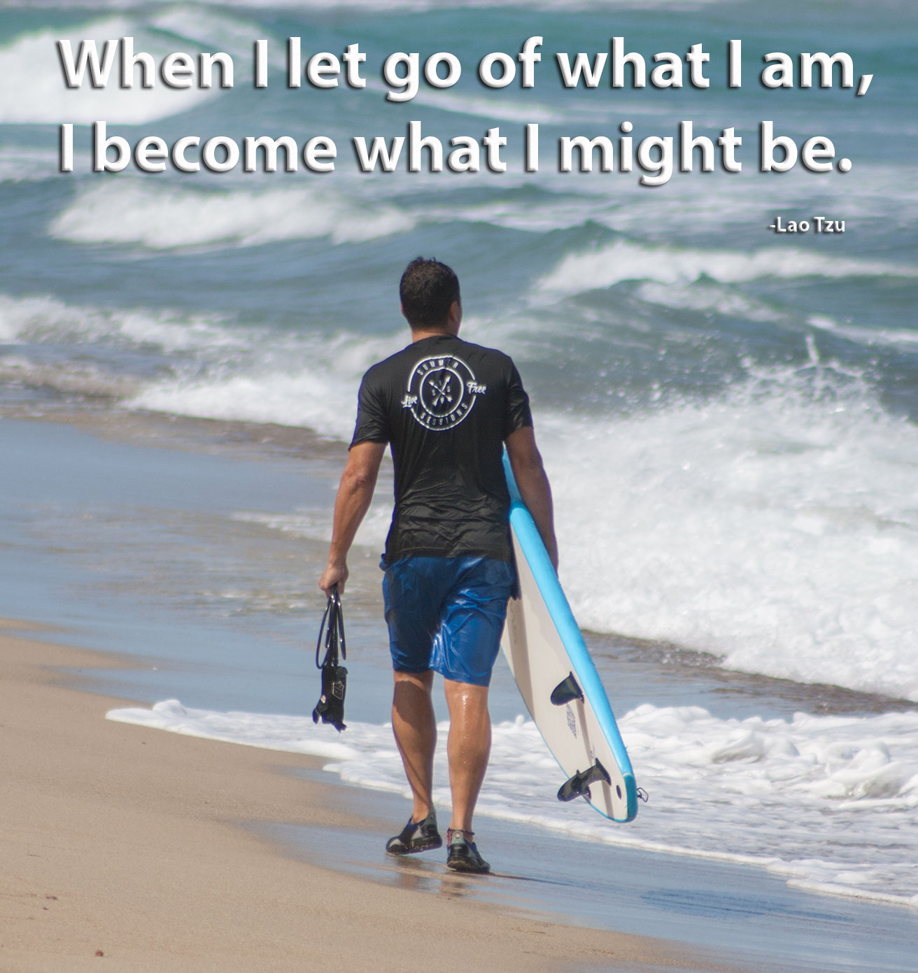 7a3 stoked, learning to surf at playa encuentro inspirational photo,Surf Meme