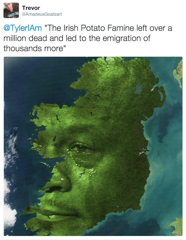 Crying Michael Jordan On The Irish Potato Famine - Michael jordan us map crying