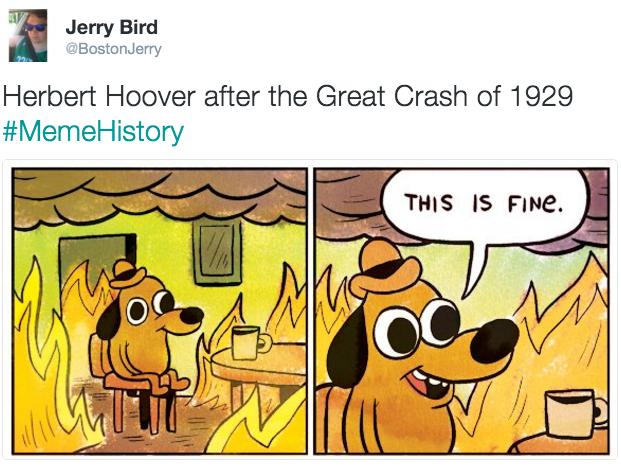 fba herbert hoover after the great crash of 1929 memehistory know,Herbert Meme