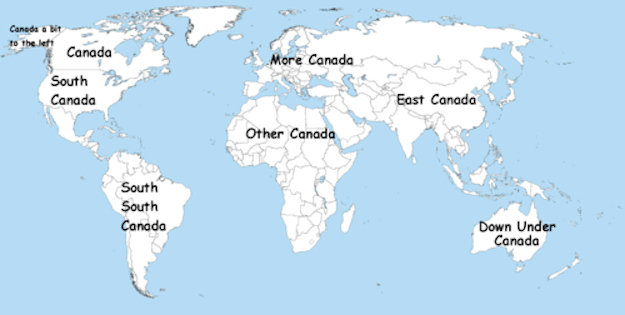 The world according to canada canada know your meme canada a bit to the left canada more canada south canada east canada other canada south gumiabroncs Gallery