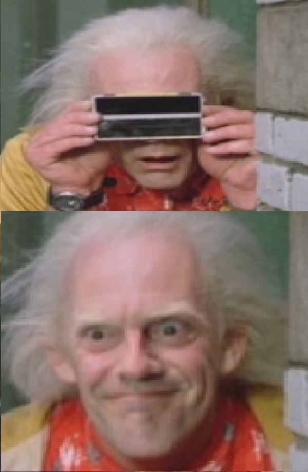 87c smug doc brown back to the future know your meme