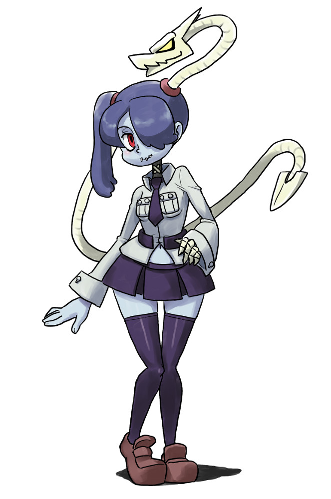 Squigly tries on Filias uniform | Skullgirls | Know Your Meme