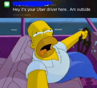 d10 homer simpson example hey it's your uber driver know your meme