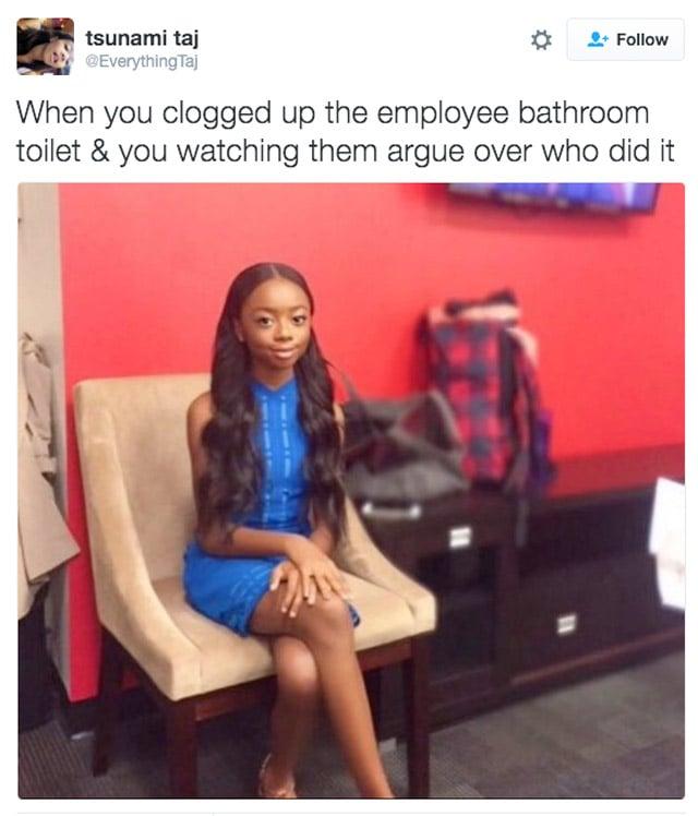 c5e toilet clogged petty skai jackson skai jackson sitting know