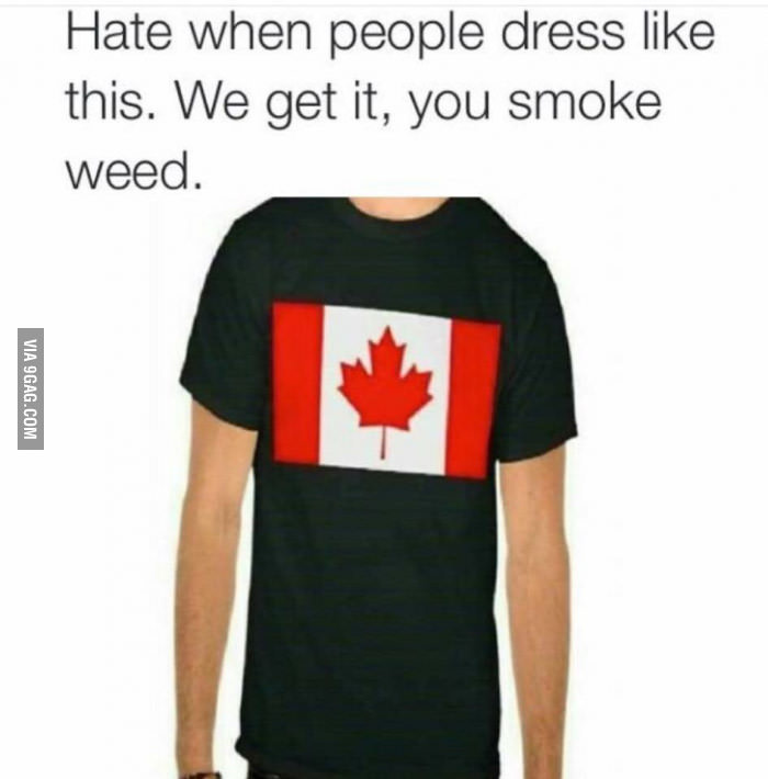 canada flag vs weed plant