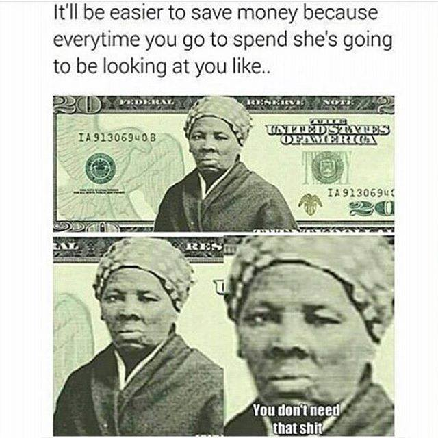 cdf harriet is judging you! harriet tubman on $20 bill know your meme