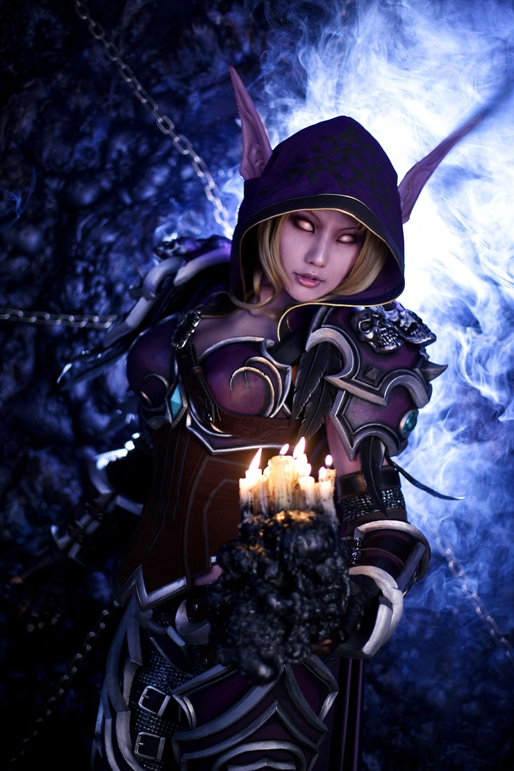 Wow sylvanas cosplay naked boobs