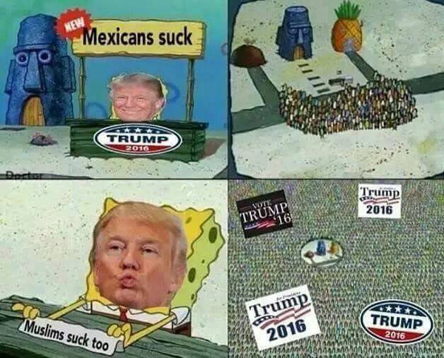 528 trump draws a crowd spongebob's hype stand know your meme