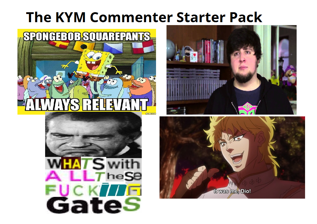 022 the know your meme commenter starter pack knowyourmeme know
