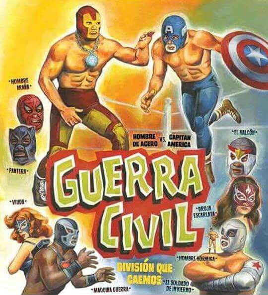 bad civil war lucha libre edition marvel cinematic universe know,Lucha Libre Memes