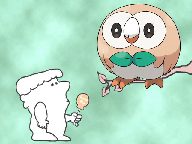 2a5 tootsie pop rowlet rowlet's roundness know your meme