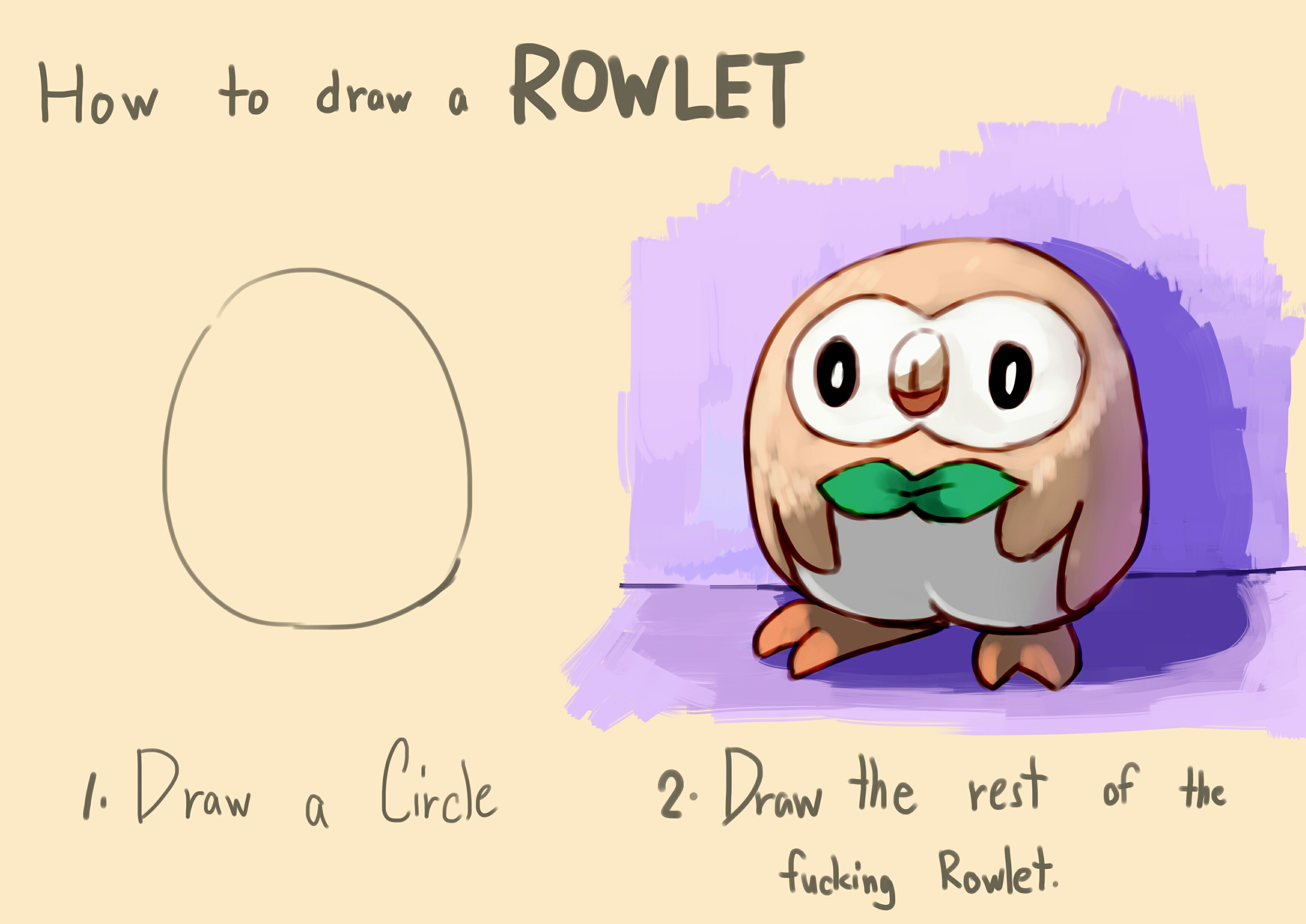 how to draw a rowlet how to draw an owl know your meme