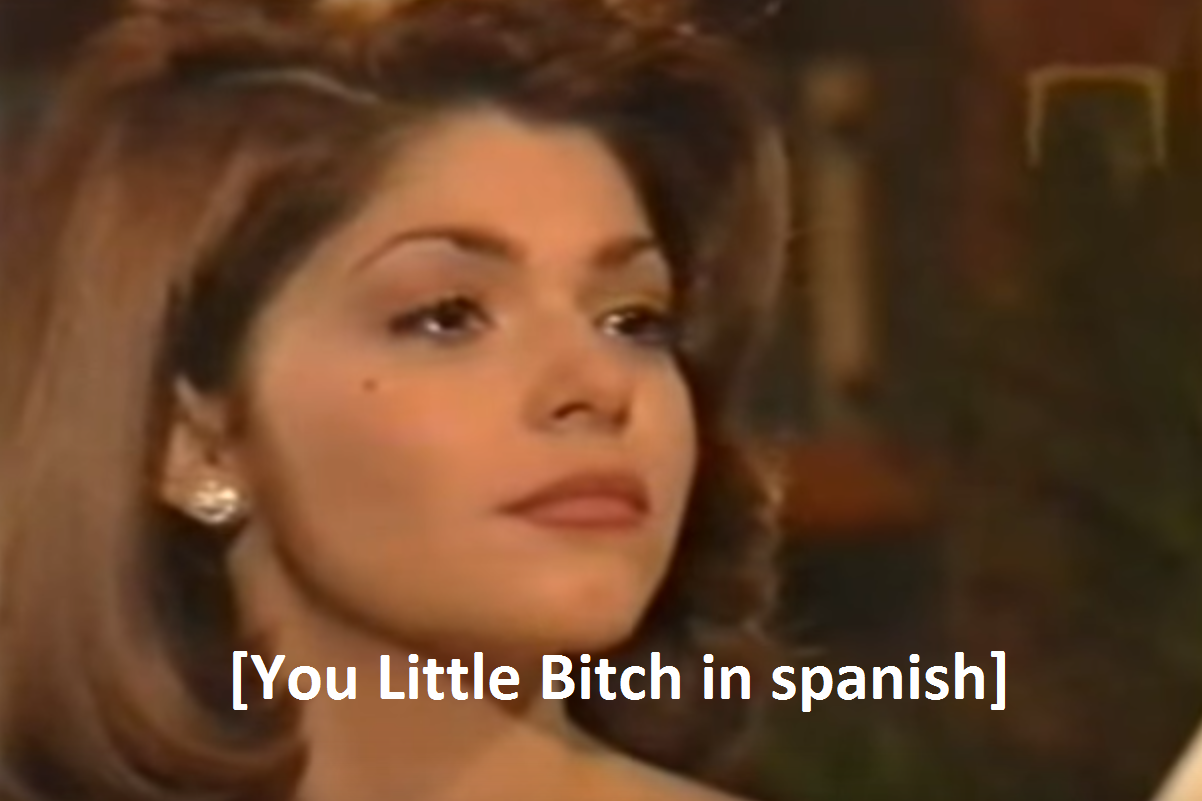 f18 you little bitch in spanish] soraya montenegro know your meme