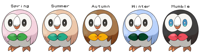if rowlet followed deerlings seasonal theme also added a