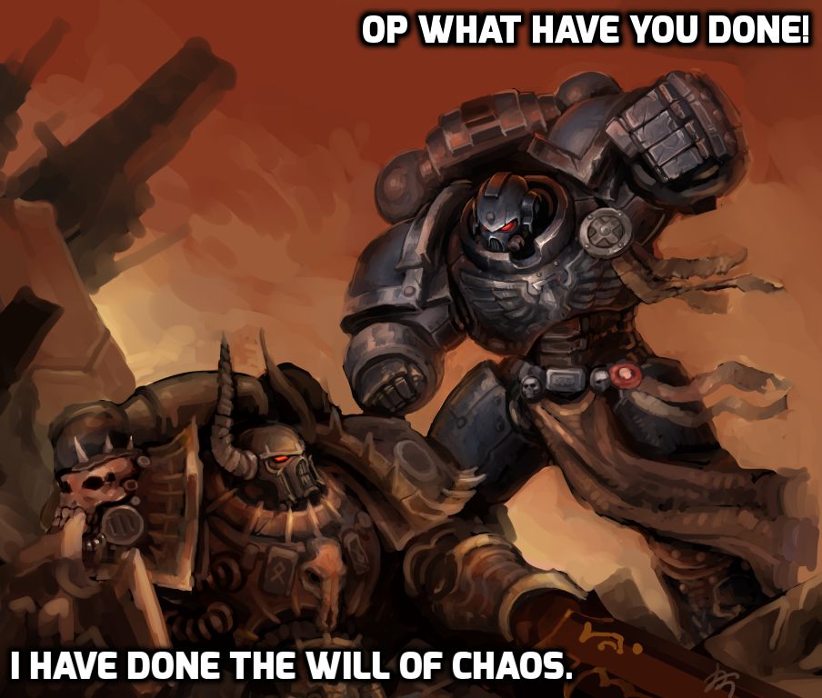 580 how to react to heresy warhammer 40,000 know your meme