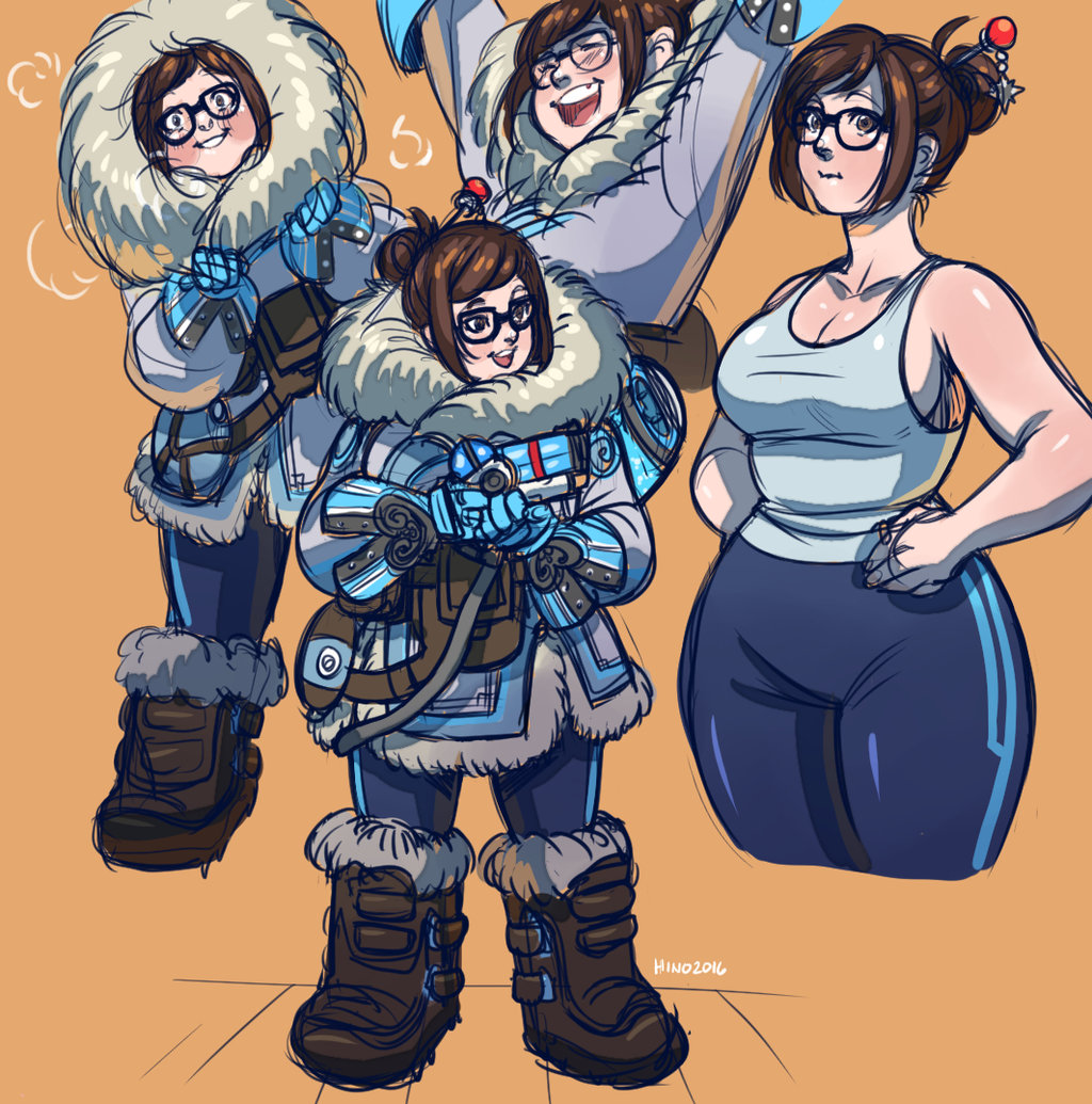Rise and cum overwatch mei by eddyproductions