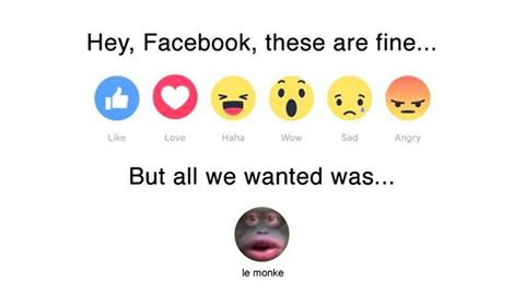 e09 facebook emoji reaction request le monke know your meme