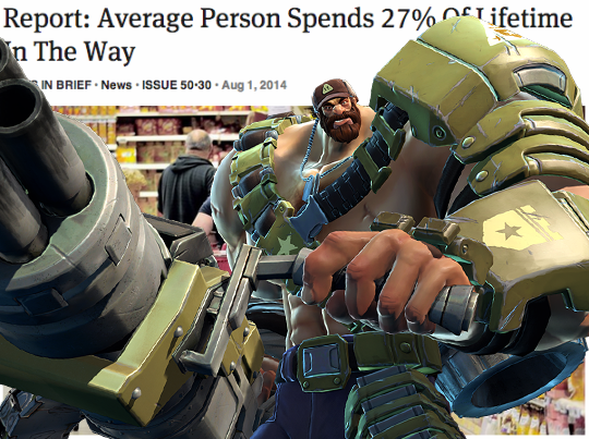 c83 report average person spends 27 of lifetime in the way battleborn
