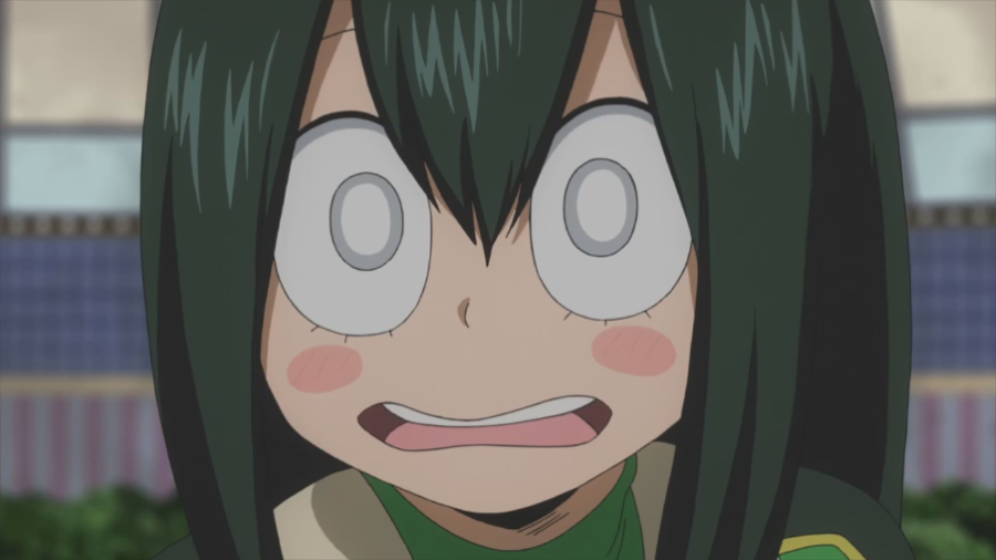Funny Frog Cartoon Meme : Frog girl bad touch my hero academia know your meme
