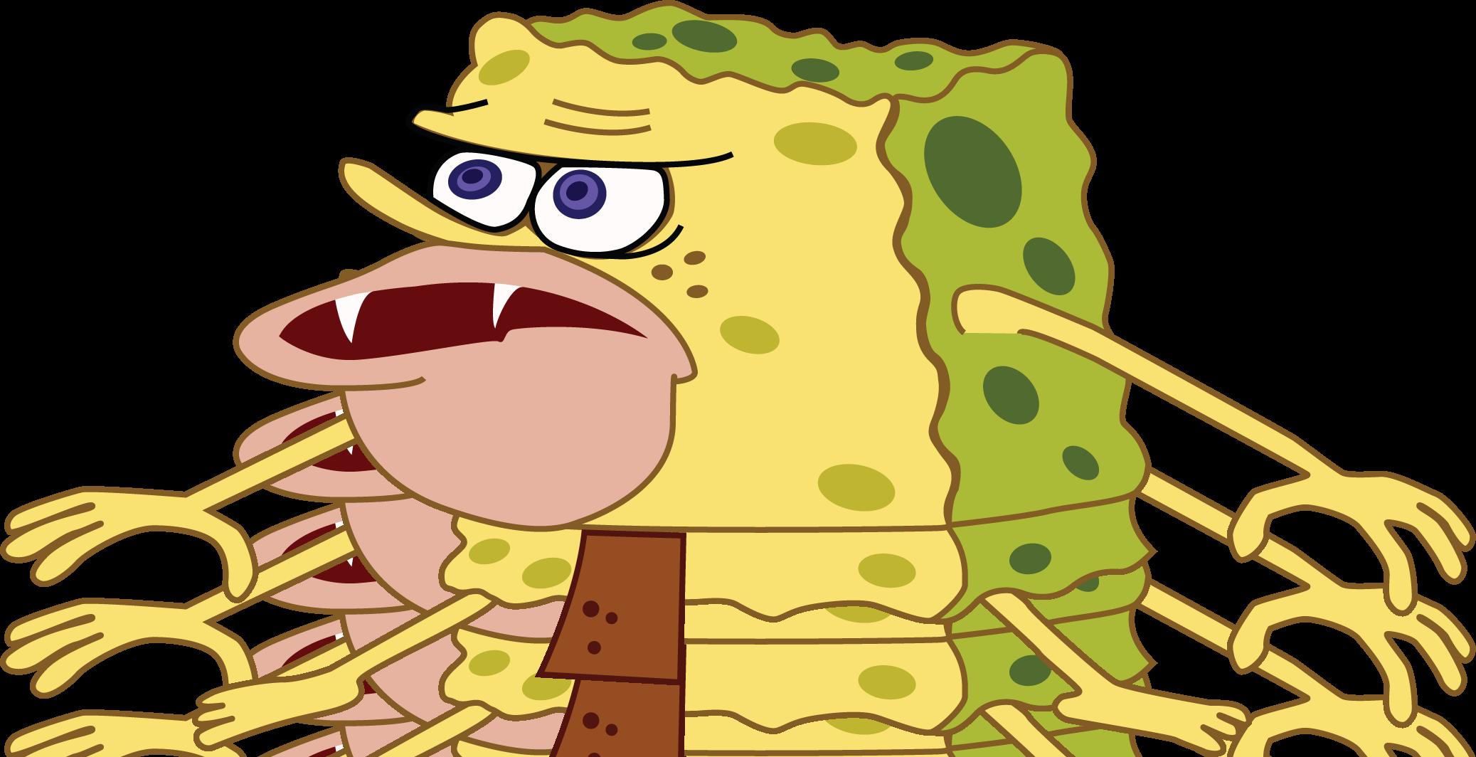 high res template spongegar primitive sponge caveman
