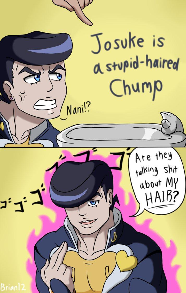 706 stupid haired chump jojo's bizarre adventure know your meme