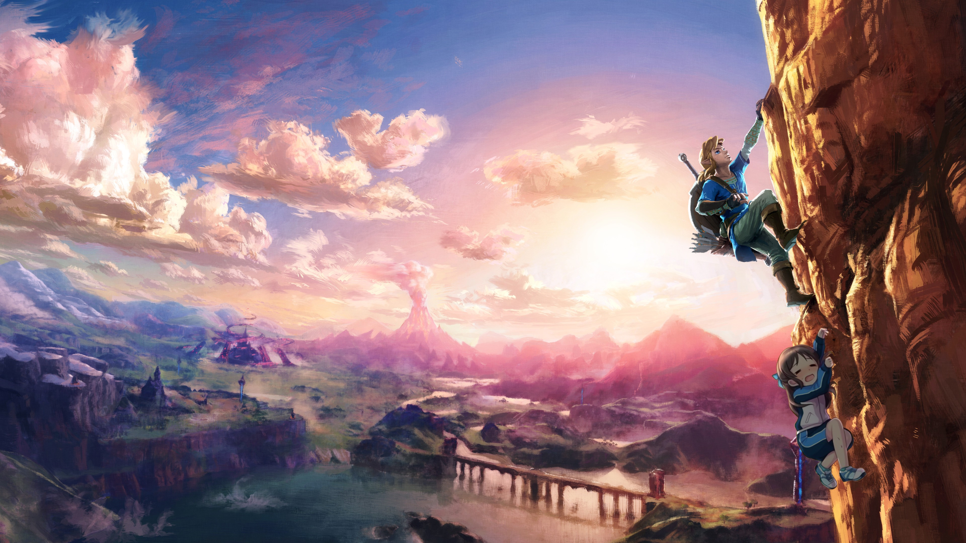 Alice climbing with link alice chan the legend of zelda breath of the wild the legend of zelda four swords voltagebd Image collections