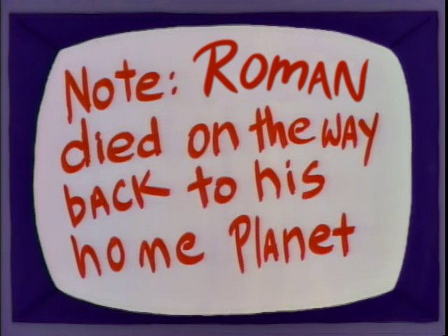 Image result for roman reigns died on the way back to his home planet