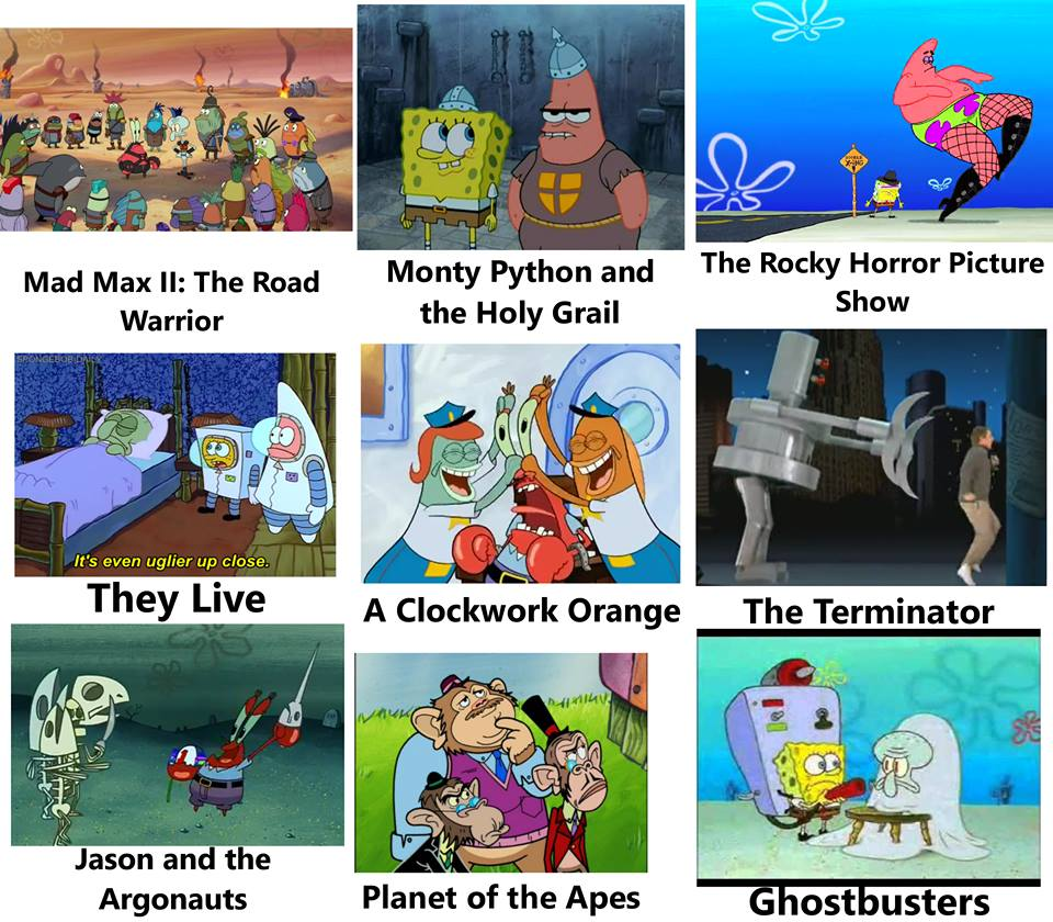 695 spongebob as cult classic films spongebob comparison charts,Spongebob Mad Meme