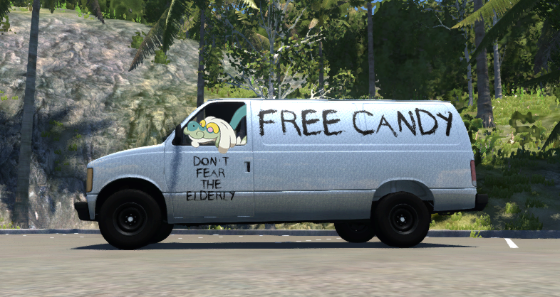 f39 you have nothing to fear from the elderly free candy van know
