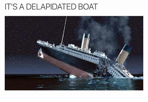 828 it's the dilapidated boat broken matt hardy \