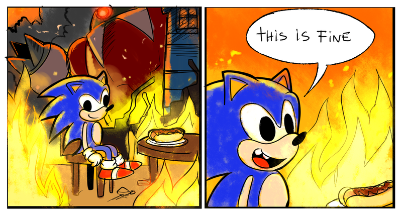 1d4 this is fine this is fine know your meme