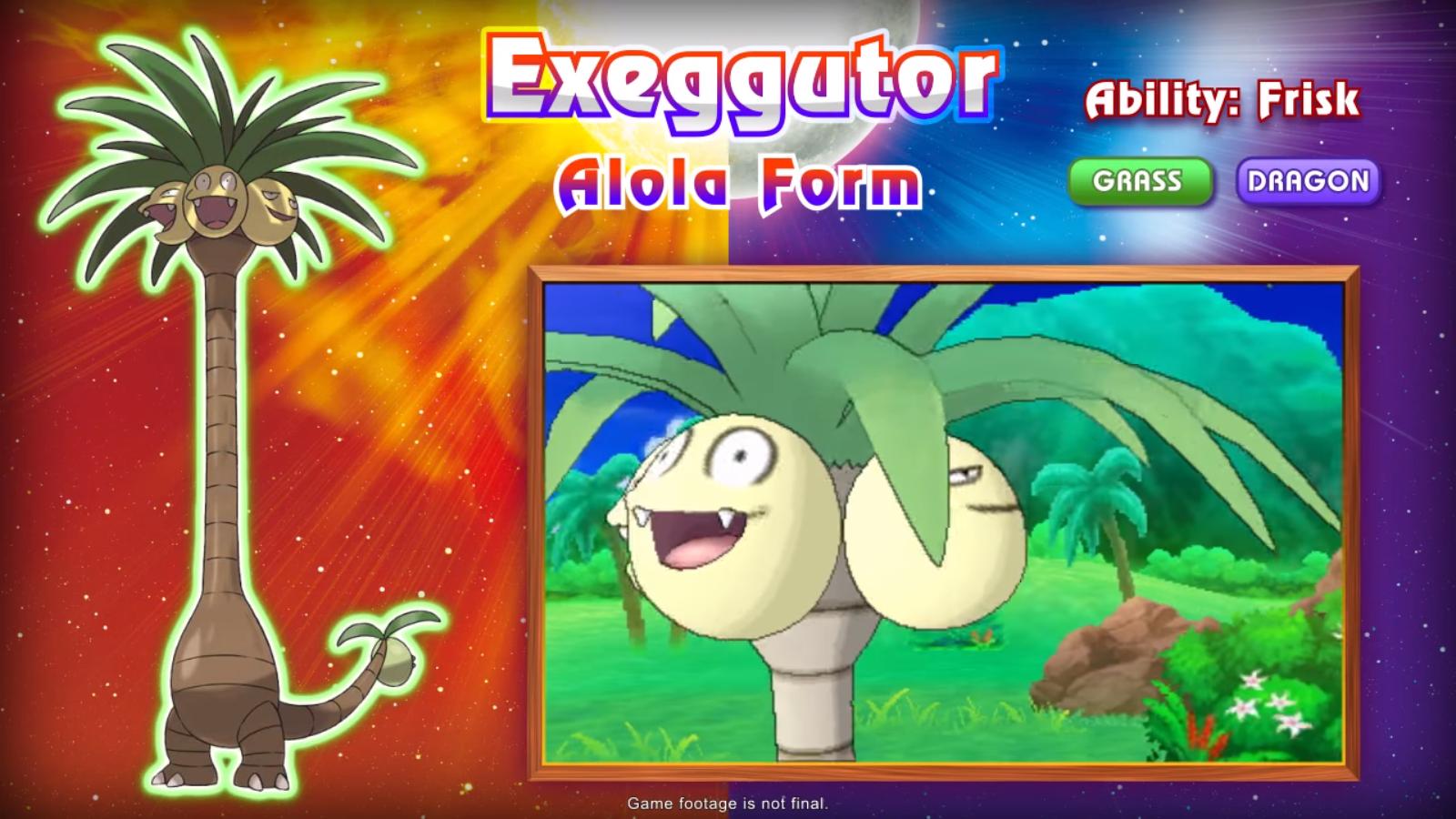 Grass/Dragon Exeggutor | Alola Exeggutor | Know Your Meme