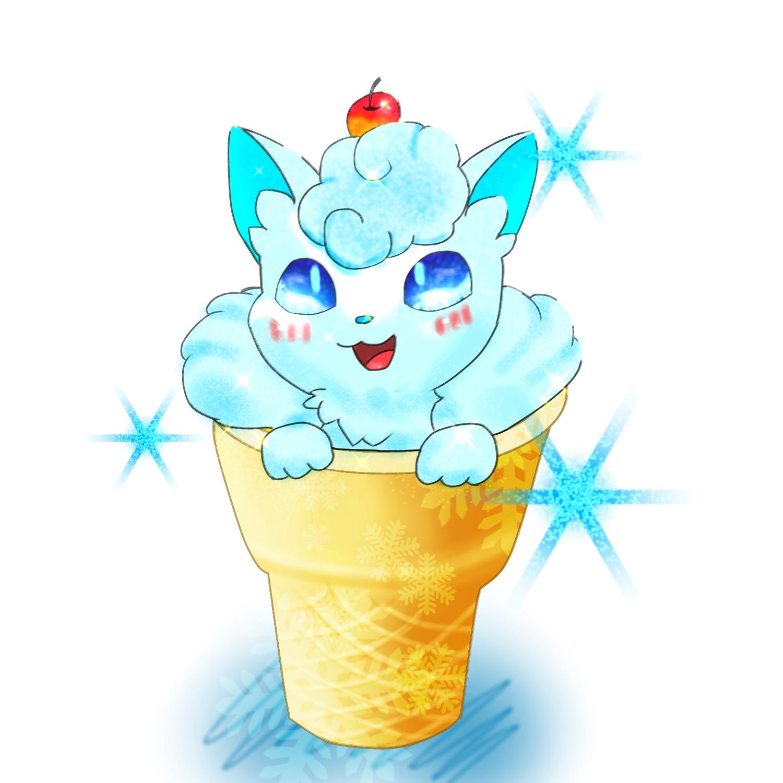 Alolan vulpix in an ice cream cone pokmon know your meme pokmon xd gale of darkness pokmon sun and moon ice cream pikachu ice cream cone sciox Gallery
