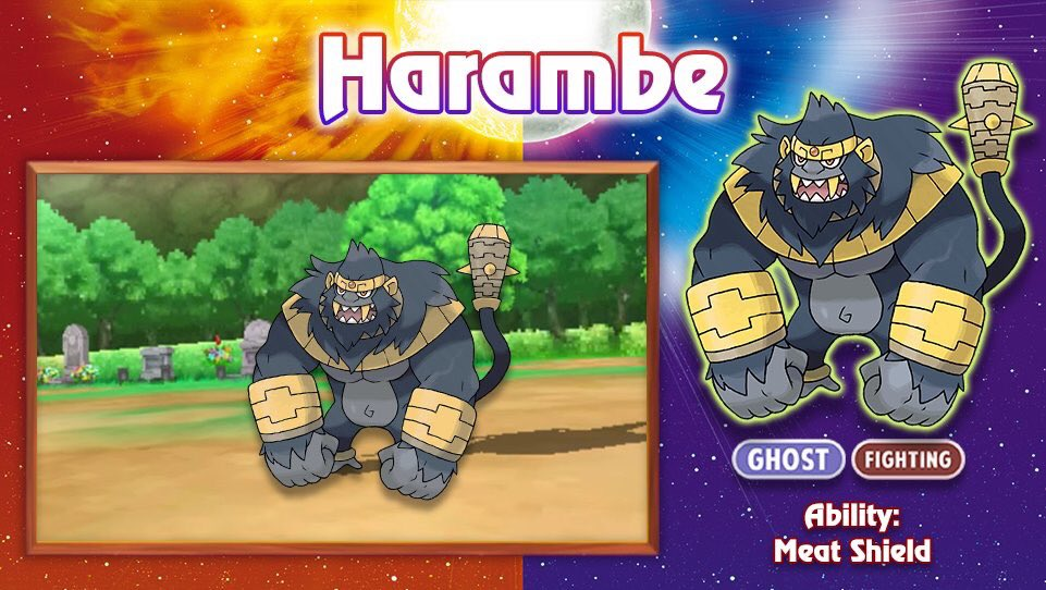 harambe in sun and moon pok mon know your meme