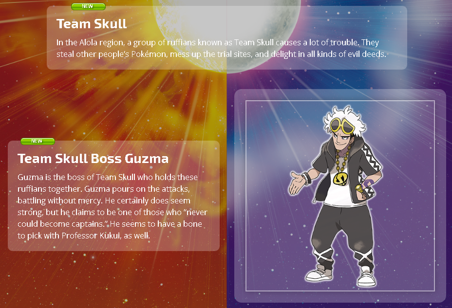 Team Skull In the Alola region, a group of ruffians known as Team Skull  causes