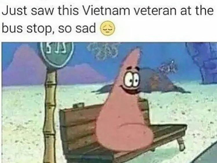 226 patrick star the vietnam veteran black twitter know your meme