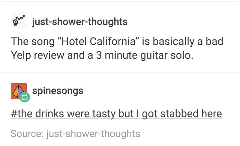 9c9 hotel california tumblr know your meme,Hotel California Meme
