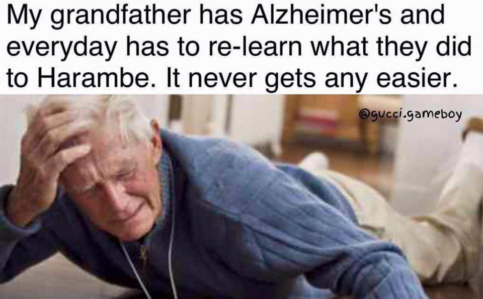 0d2 grandfather has alzheimer's and everyday has to re learn what they