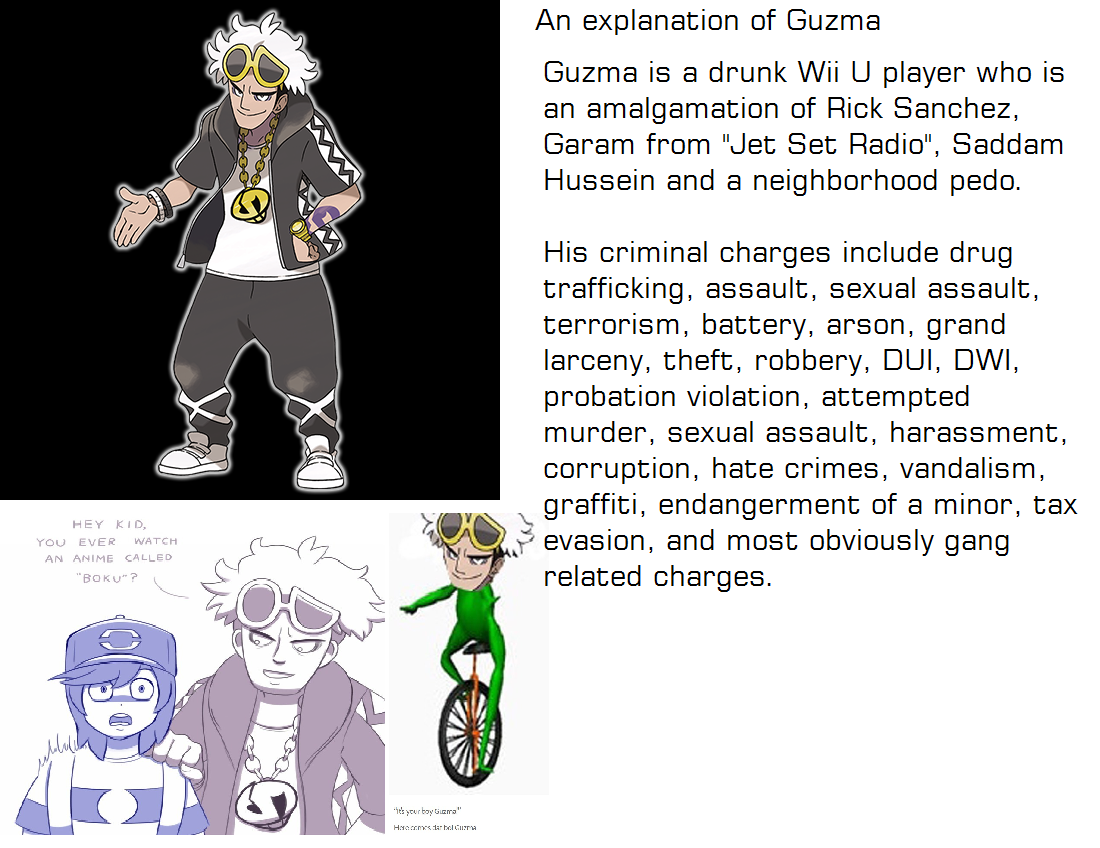3c0 explanation of guzma guzma know your meme