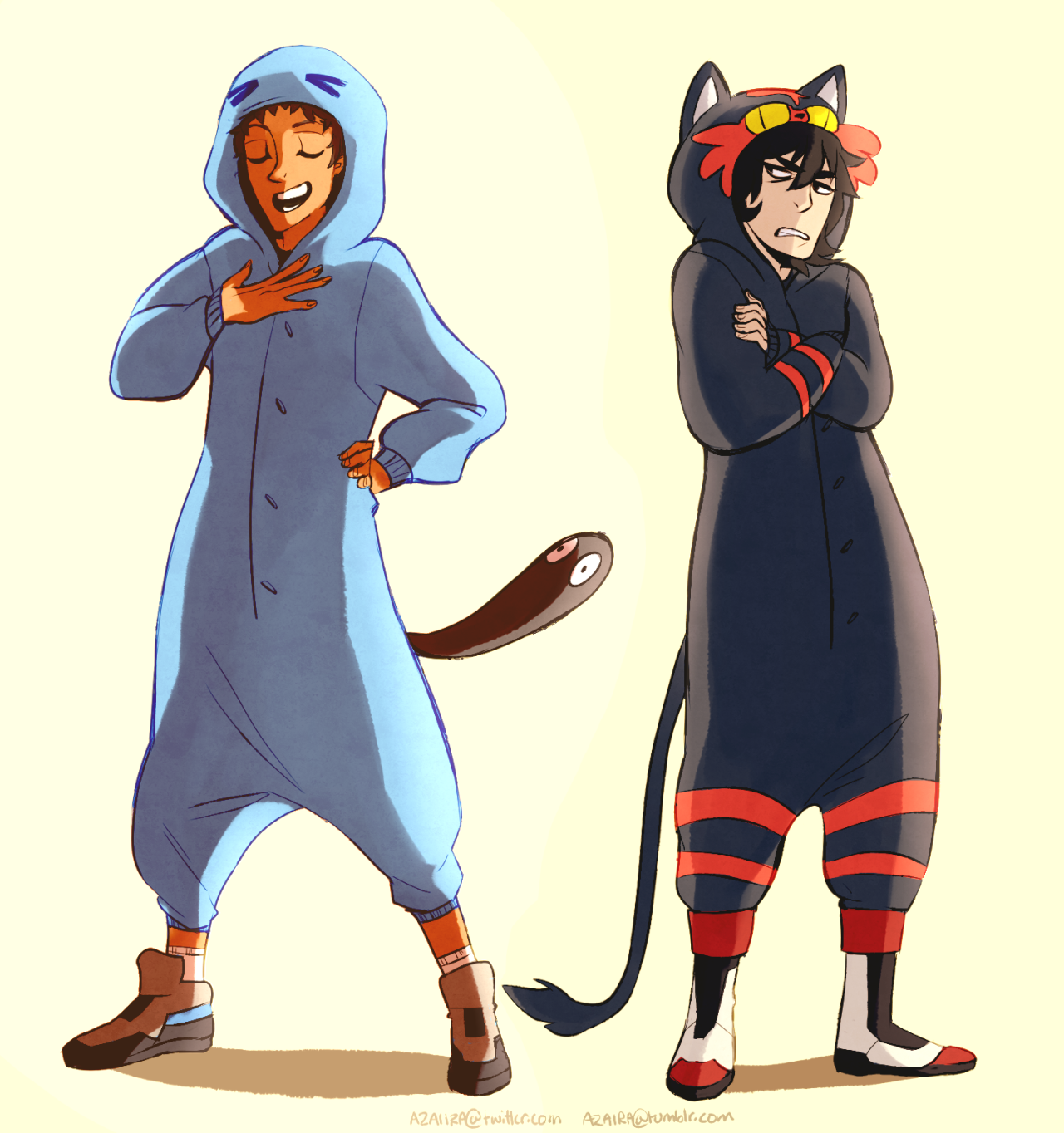 af9 klance in pokemon onesies just because voltron legendary defender