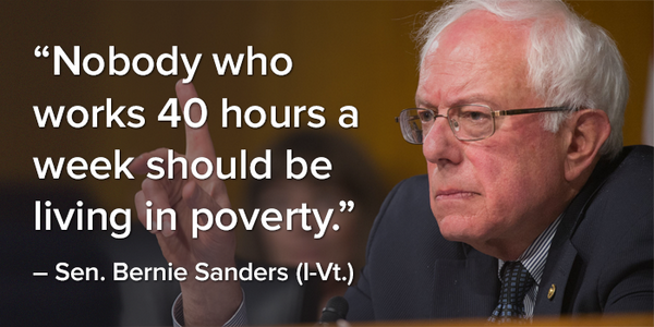 Bernie Sanders Quotes Amazing Nobody Working 40 Hours A Week  Image Quotes  Know Your Meme