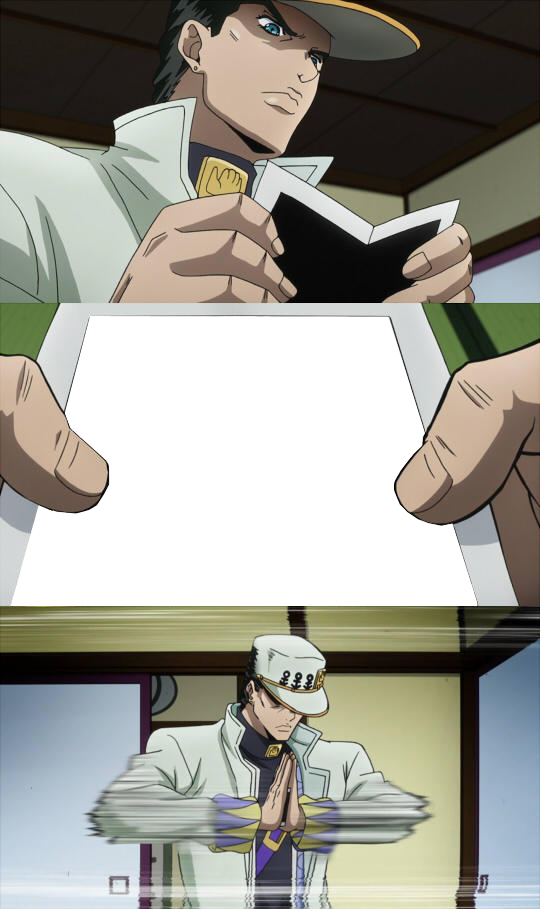 What Is Jotaro Seeing On The Photograph Template Jojo