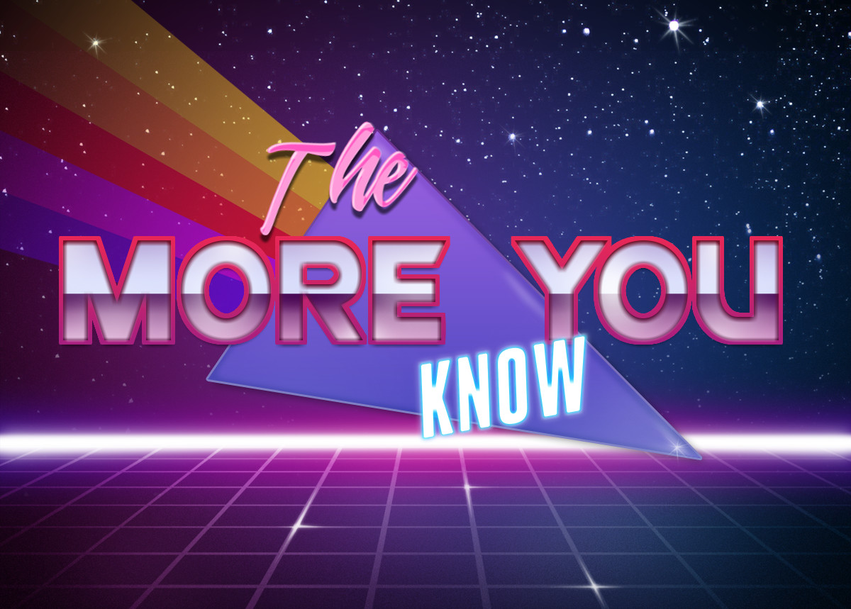 081 the more you know retrowave text generator know your meme