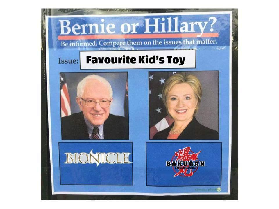 e55 bernie vs hillary favorite kids' toy bernie or hillary? know
